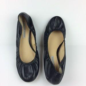 "Vera Wang Lavendar ""Lillian"" black ballet flats"